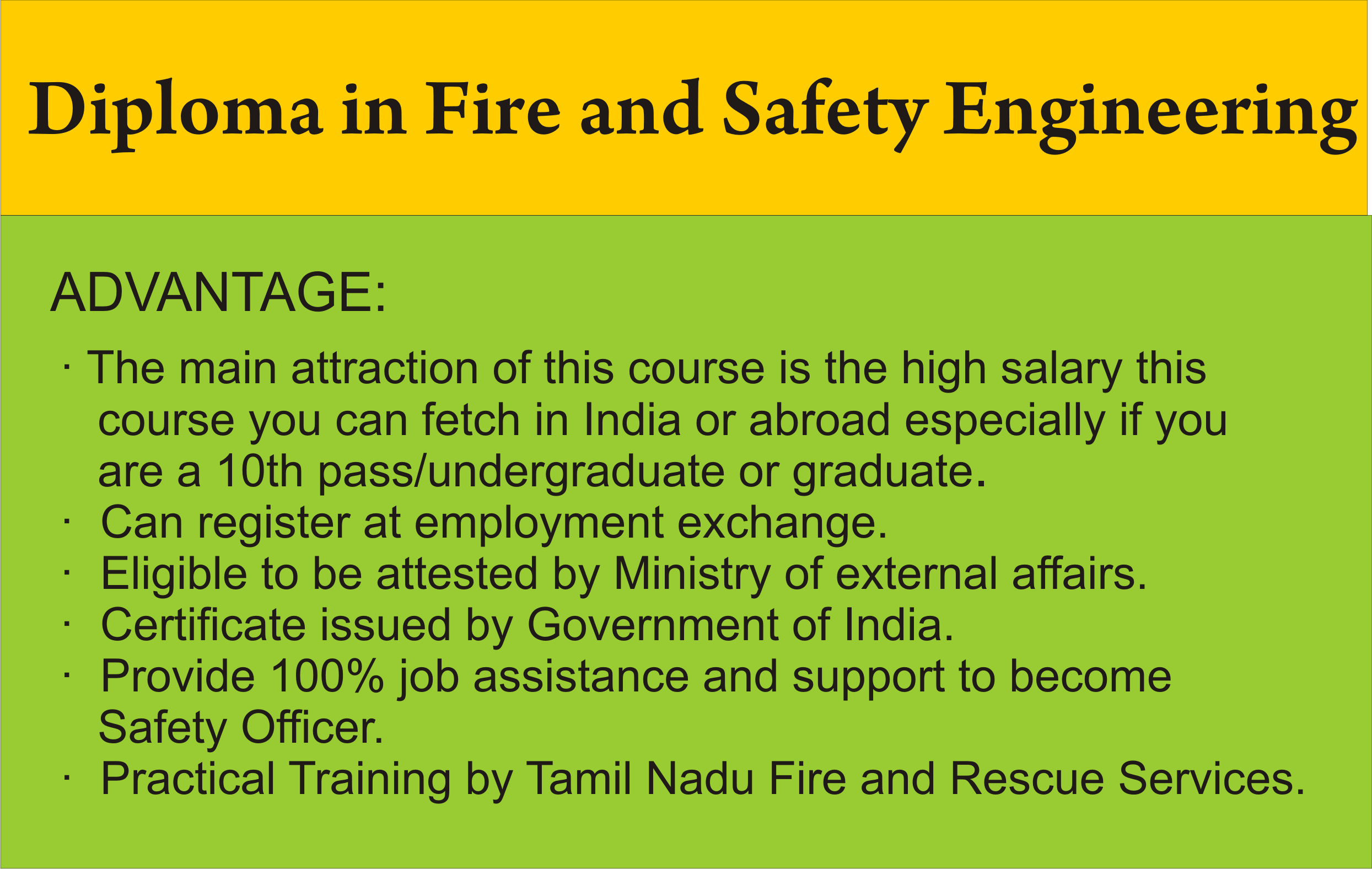 diploma fire safety engineering